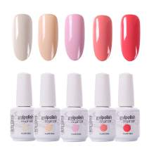 Arte Clavo 15ml Varnish Soak Off UV Led Nail Gel Polish Nail Art Salon Set 501 of 5 Colors