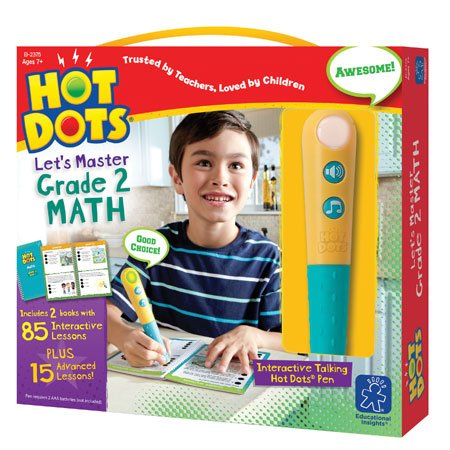 Educational Insights Hot Dots Let's Master 2nd Grade Math Set, Homeschool, 2 Books & Interactive Pen, 100 Math Lessons, Ages 7+