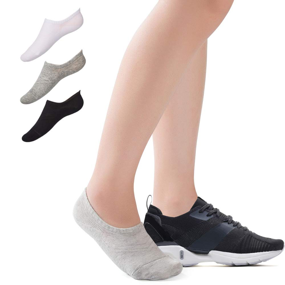 No Show Socks for Women, 3/6/9/15 Pairs Cotton Liner Socks Invisible Non Slip Flat Boat Line Socks