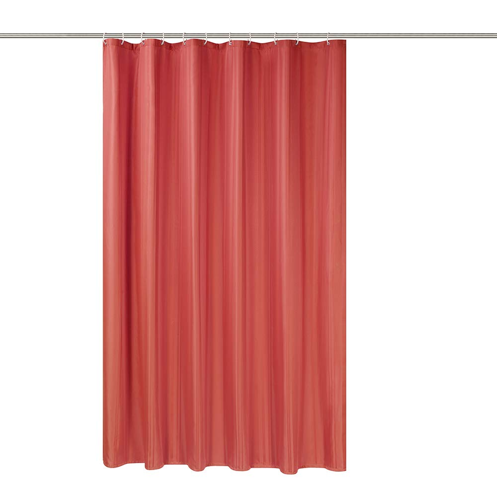 Simple&Opulence Shower Curtain Set with Hooks Waterproof Water-Repellent 72 x 78 inches (Red)