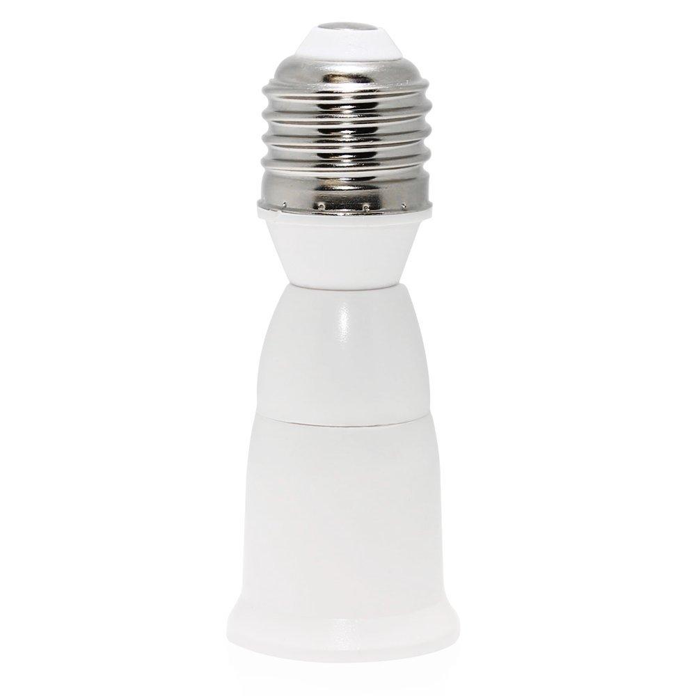 TORCHSTAR 6 Pack E27 to E27 Extender Adapter, E27 to E27 Edison Screw Converter Lamp Bulb Socket Lamp Holder, Fits LED/CFL Light Bulbs, Heat-resistant, Anti-burning, No Fire Hazard
