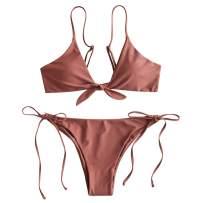ZAFUL Beach Swimwear Knotted String Bikini Set Bathing Suits
