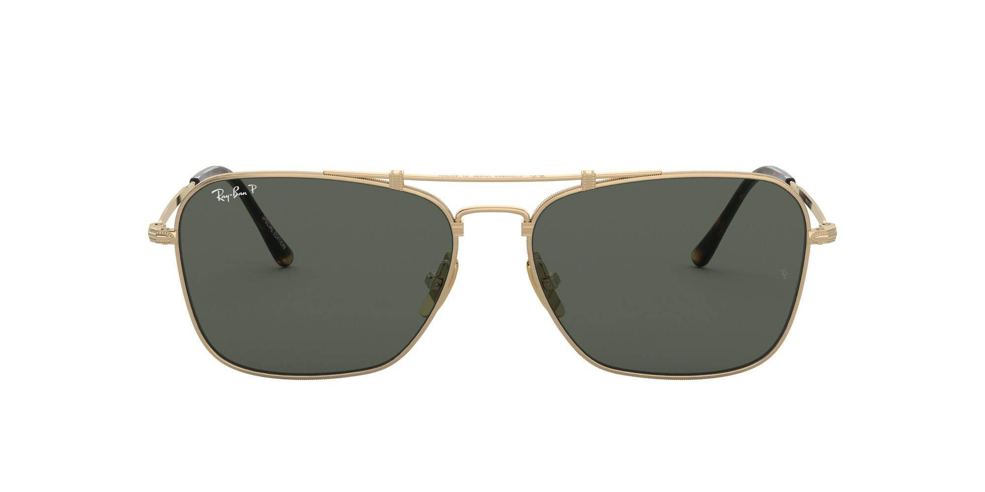 Ray-Ban RB8136M Caravan Titanium Square Sunglasses