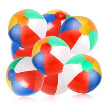 """Skrtuan Inflatable Beach Balls, 10 Pack 12"""" Rainbow Beach Ball Pool Toys in Pool Party for Kids Boys Girls Water Toy Fun Play in Summer"""