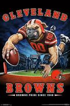 "Trends International NFL Cleveland Browns - End Zone, 22.375"" x 34"", Unframed Version"