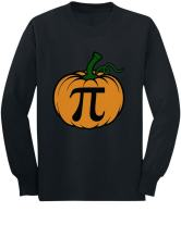 Halloween Pumpkin Pie Cute Pumpkin Pi Toddler/Kids Long Sleeve T-Shirt