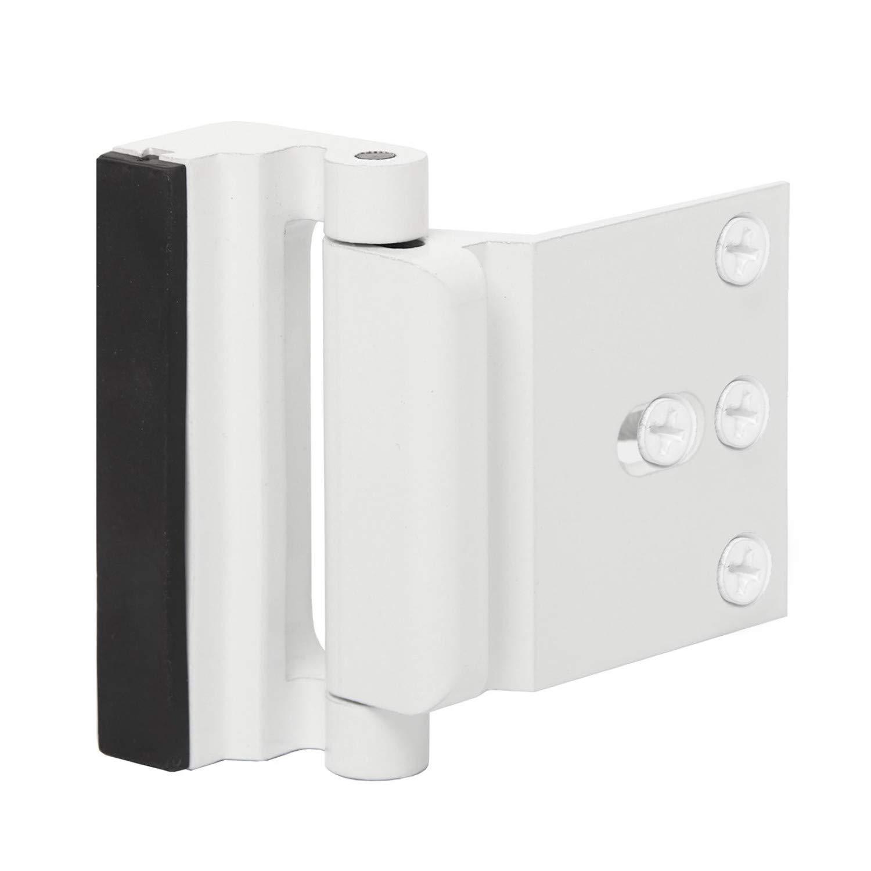 "Door Reinforcement Lock Child Safety Door Security Lock with 4 Screws for Inward Swinging Door-Add Extra,High Security to Your Home Prevent Unauthorized Entry-3"" Stop,Aluminum Construction"