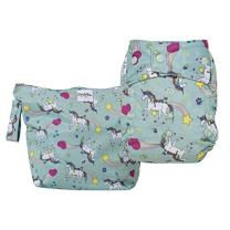 GroVia Cloth Diaper and Wetbag Purrrrfect Combo (Snap Shell)