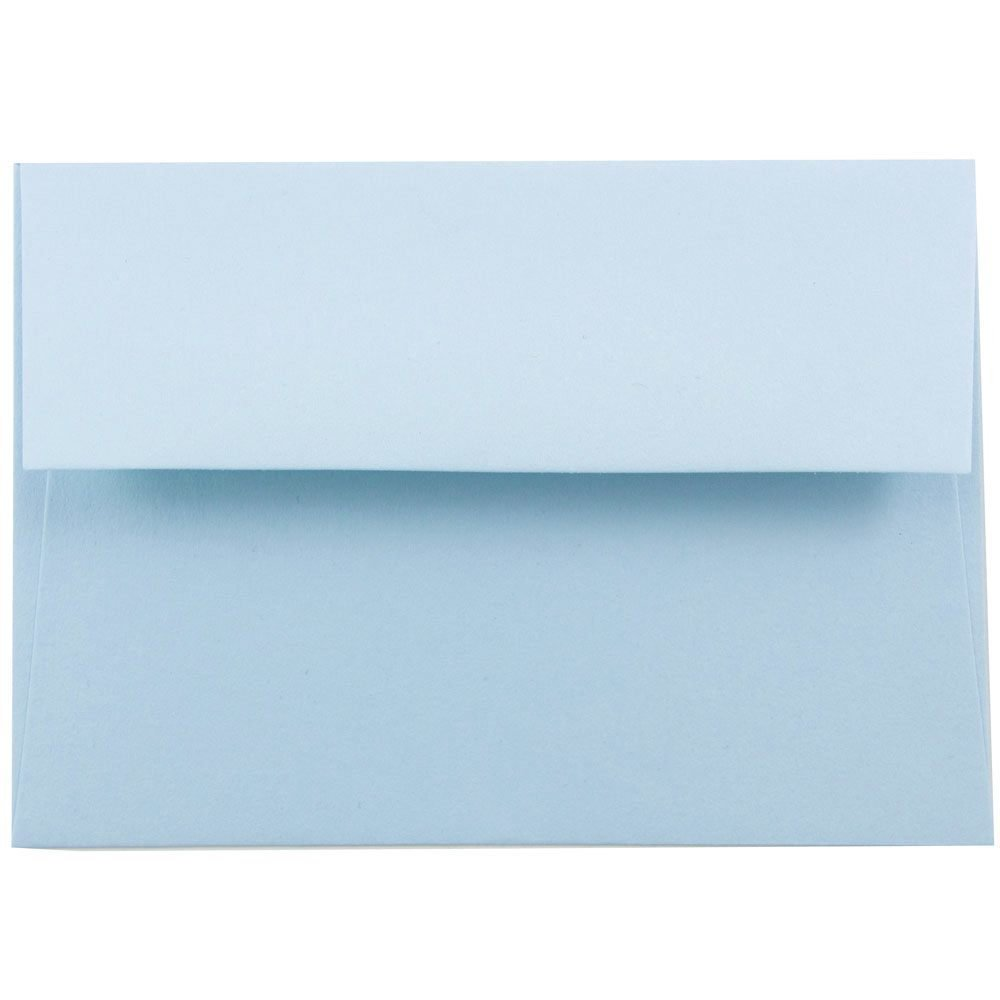 JAM PAPER A2 Premium Invitation Envelopes - 4 3/8 x 5 3/4 - Pastel Baby Blue - Bulk 250/Box