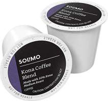 Amazon Brand - 100 Ct. Solimo Medium Roast Coffee Pods, Kona Blend, Compatible with Keurig 2.0 K-Cup Brewers