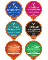 VitaCup Coffee Variety Sampler Pack 100ct. Vitamin infused Recyclable Single Serve Pods Compatible with K-Cup Brewers Including Keurig 2.0