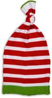 Izzy and Owie Striped Christmas Baby Hat, White/Green