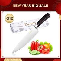 Doself Chef Knife - 8 Inch Chef Knife German High Carbon Stainless Steel Kitchen Knife with Sharp Edge and Ergonomic Handle, Perfect as Holiday Gift