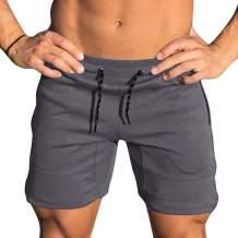 Yidarton Mens Gym Shorts Casual Workout Running Shorts Athletic Fitness Jogger Shorts