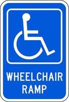 ZING 2357 Eco Parking Sign, Wheel Chair Ramp with Symbol, 3M High Intensity Prismatic, Recycled Aluminum