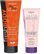 FRESH BREASTS and FRESH BODY WASH! Fresh Breasts 3.4 oz Women's Antiperspirant and Fresh Body Wash 8 oz All In One Hair & Body Wash!
