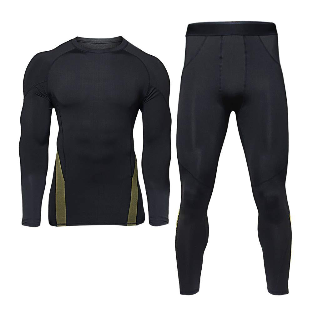 TAKIYA Thermal Underwear for Men Compression Winter Base Layer Warm Top Bottom Sets Ultra Soft Gear Sport Long Johns Set