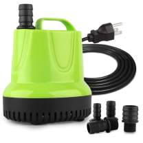FREESEA 160-1100 GPH Submersible Water Pump for Pond Aquariums Hydroponics Fish Tank Garden Fountain Waterfall