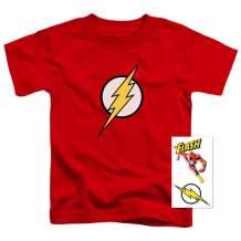 Youth Flash Lightning Bolt Logo T Shirt for Boys & Stickers