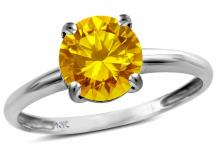 Star K Solid 10k Gold Round 7mm Classic Solitaire Engagement Promise Ring