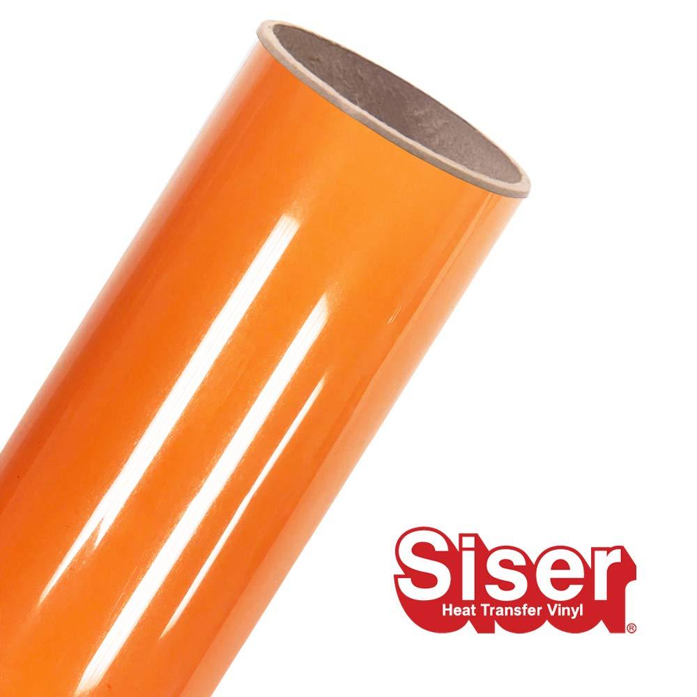 """Siser EasyWeed HTV 11.8"""" x 10ft Roll - Iron on Heat Transfer Vinyl (Orange Soda)"""