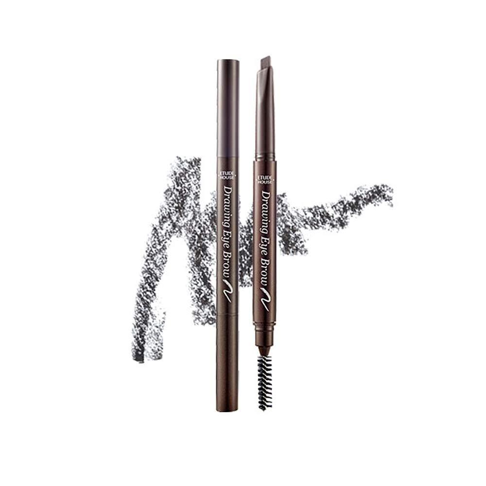 ETUDE HOUSE Drawing Eye Brow 0.25g #4 Dark Grey   Long Lasting Eyebrow Pencil   Soft Textured Natural Daily Look Eyebrow Makeup