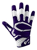 Cutters Rev Pro Football Gloves, Best Grip Receiver Gloves, Youth & Adult Sizes, 1 Pair