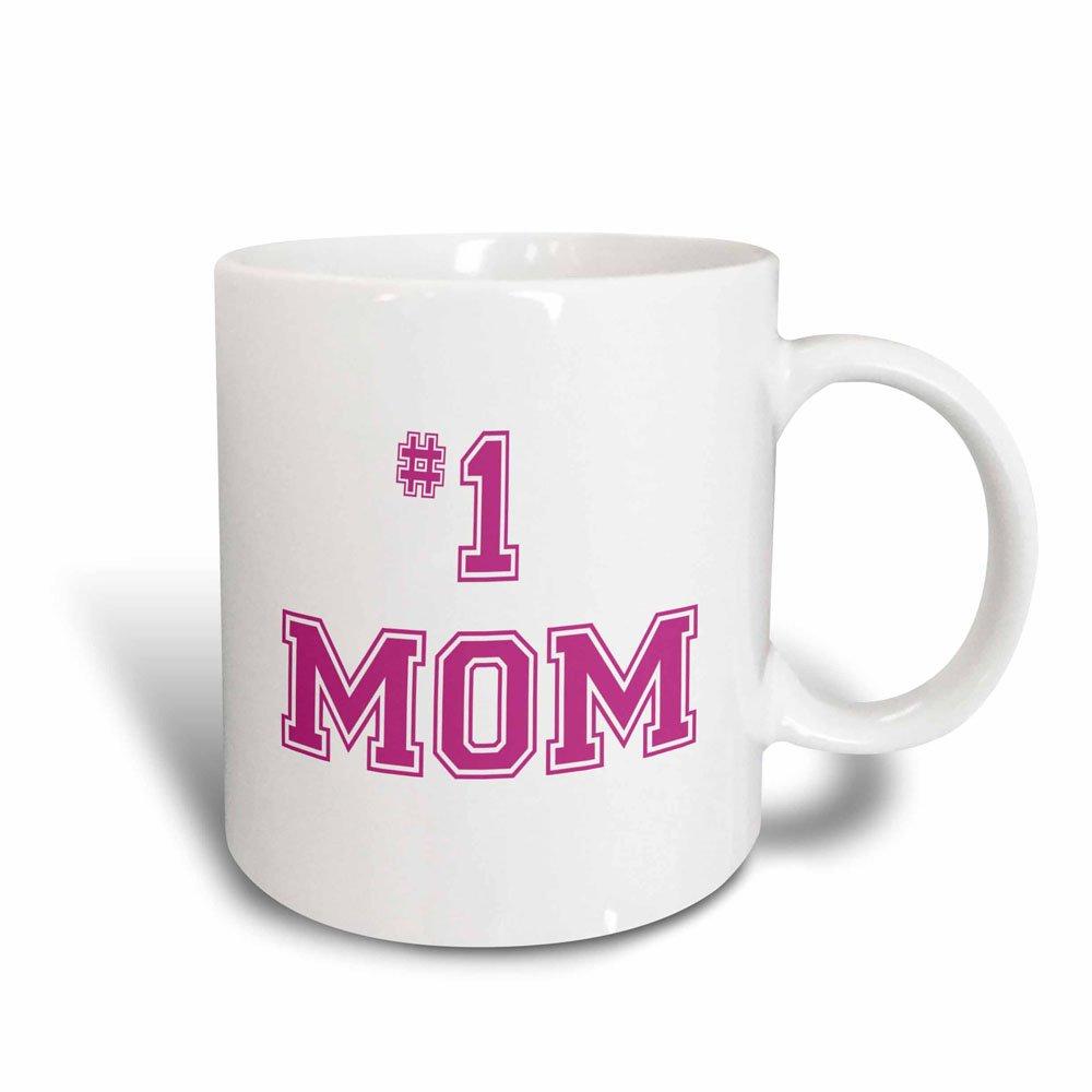3dRose #1 Mom Mug, 11 oz