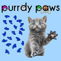 Purrdy Paws Soft Nail Caps for Cat Claws Blue