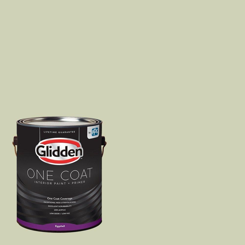 Glidden Interior Paint + Primer: Sage/Pickling Spice, One Coat, Eggshell, 1-Gallon