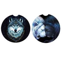 """2.56"""" Absorbent Car Coasters for Drinks Set of 2 Pack,Auto Coasters for Cup Holders,Ceramic Car Coasters can Keep Cupholders Clean and Dry. (Animal)"""