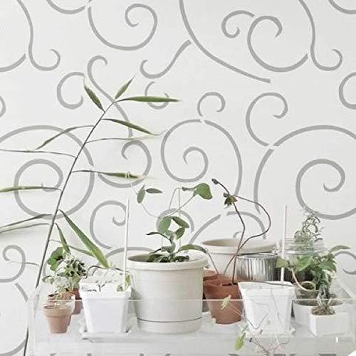 Spiral Scroll Wall Stencil   DIY Home Decor Stencils   Paint Stencil for Walls, Furniture, Floors, Fabric