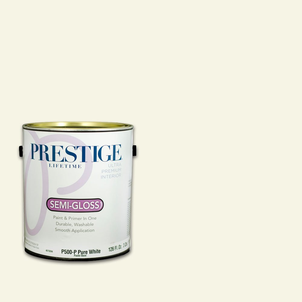 Prestige Interior Paint and Primer in One, 1-Gallon, Semi-Gloss, Smooth Stone