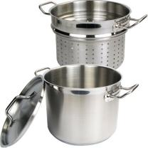 Winware Stainless 8 Quart Steamer/Pasta Cooker with Cover