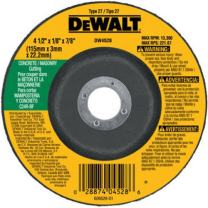 "DEWALT 4-1/2"" Cut Off Wheel, Concrete/Masonry, 4-1/2"" x 1/8"" x 7/8"" (DW4528)"