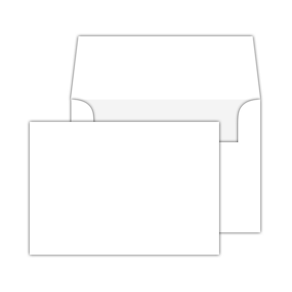 Blank Note Flat Cards and Envelopes, Made From Bright White Heavyweight Thick Cardstock | 5 X 7 Inches (A7) | 50 Cards and Envelopes Per Pack | Not a Fold Over Card