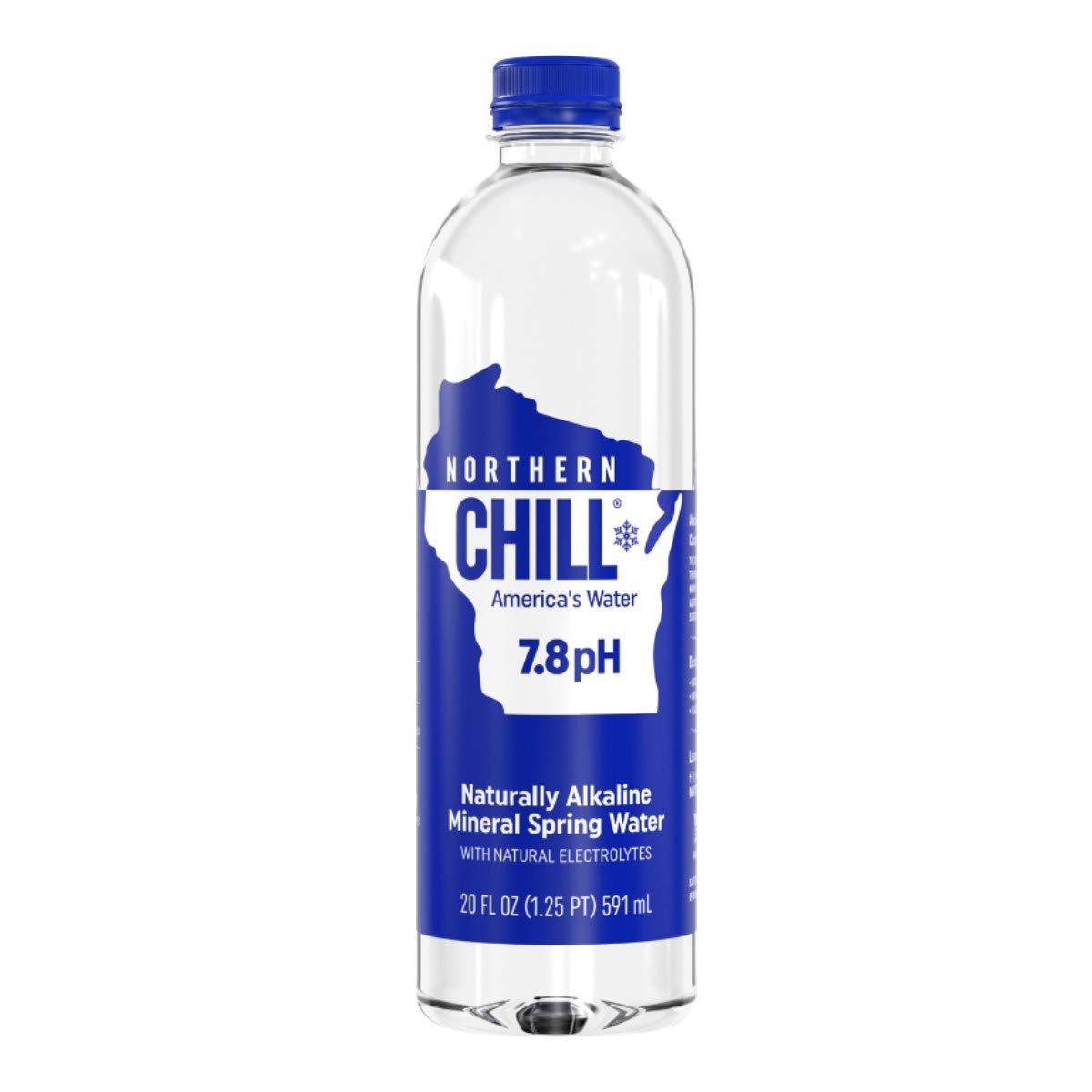 Northern Chill, 20oz, 24 pack, Naturally Alkaline Mineral Spring Water, Naturally Filtered Minerals & Electrolytes, BPA Free PET Bottles, This is America's Water