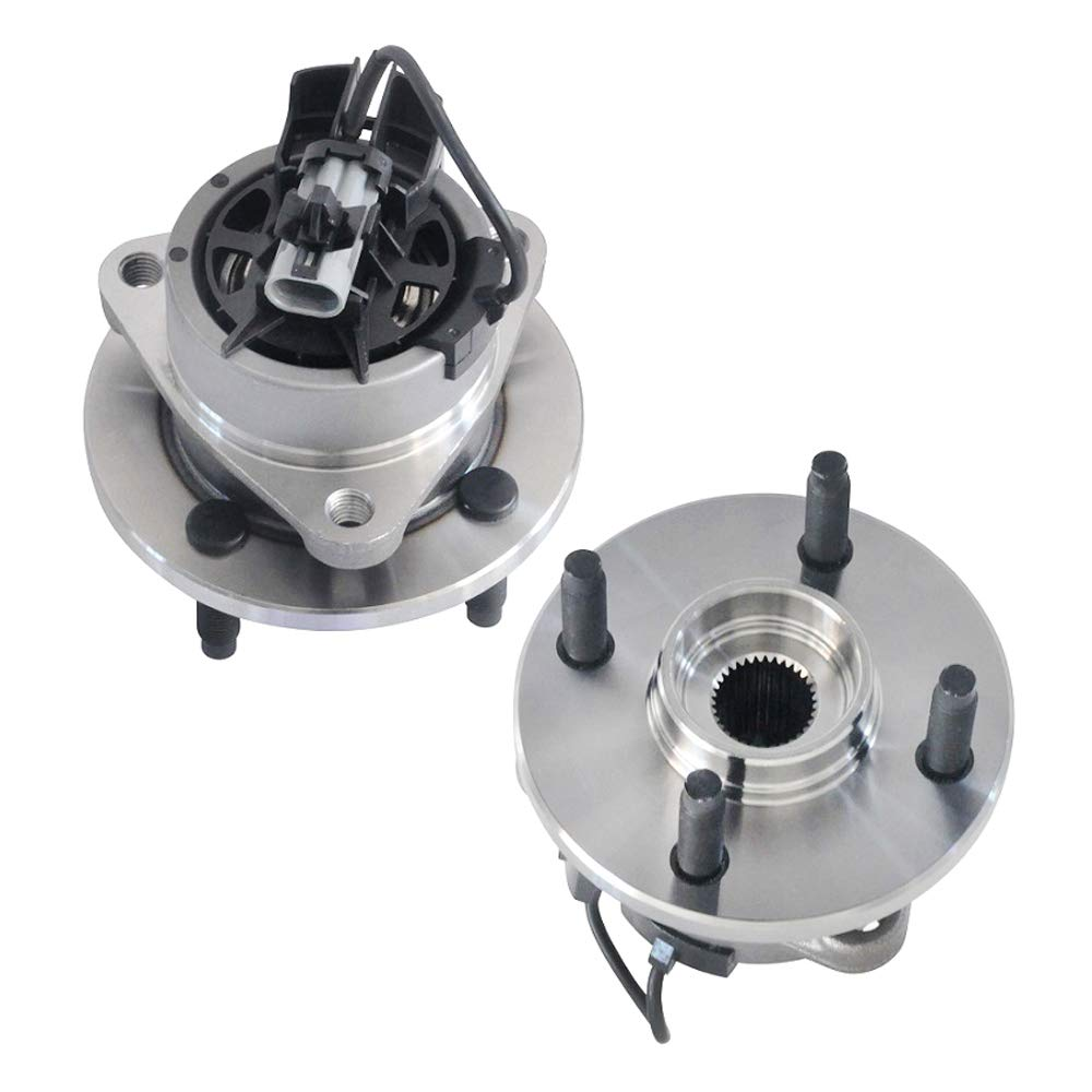 IRONTEK 513204x2 Front Wheel Bearing and Hub Assembly FITS 2005-2010 Chevrolet Cobalt, 2007-2008 Pontiac G5/G6, 2003-2007 Saturn ION-2/ION-3, 2003-2005 Saturn ION-1 w/ABS 4 Lug