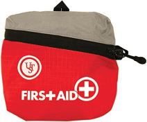 ust Featherlite First Aid Kits with Vital Supplies and Durable Red Cloth Bag for Hiking, Backpacking, Camping, Travel, Car or Outdoor Survival