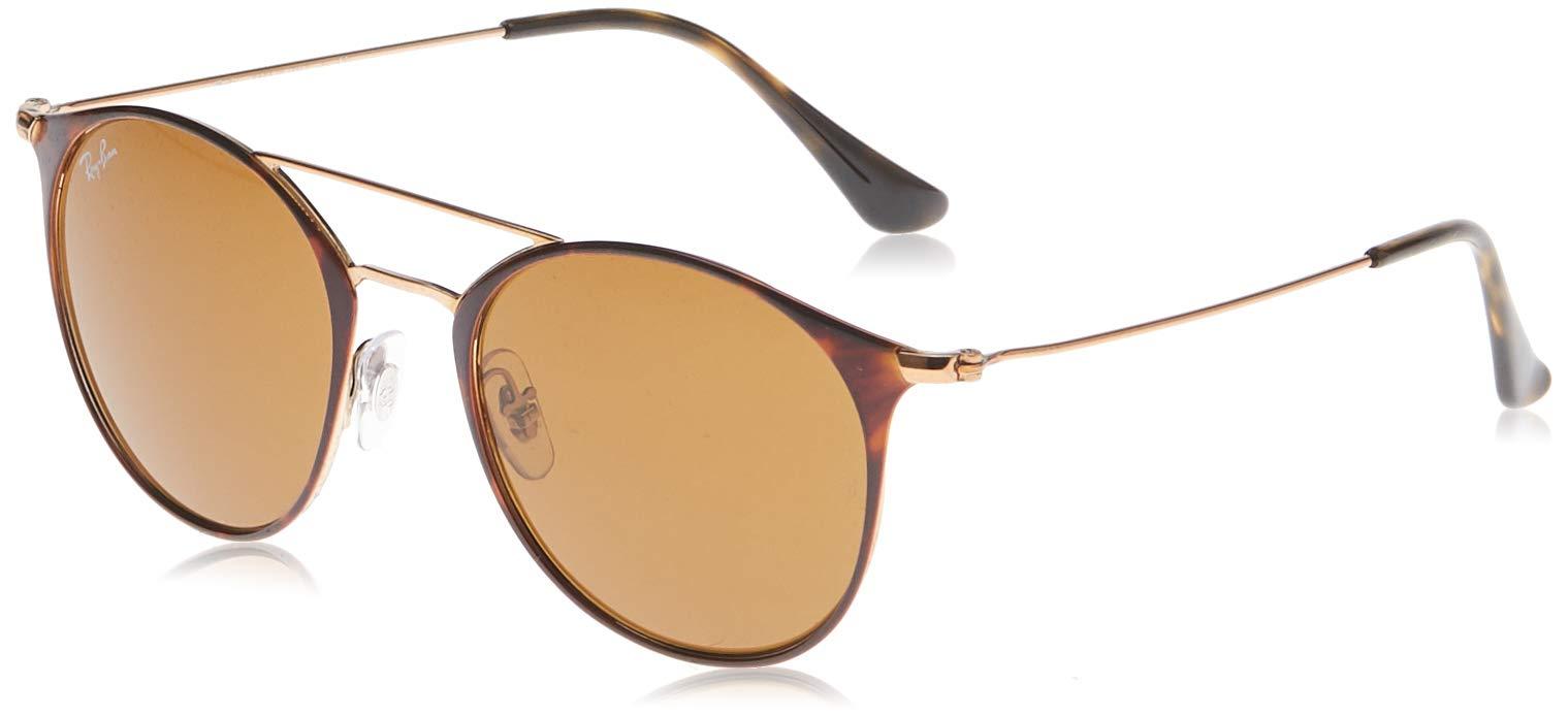 Ray-Ban Women's Round Browbar Sunglasses