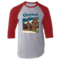 Overlook Hotel Horror Movie Makes Jack A Dull Boy Raglan Baseball Tee Shirt