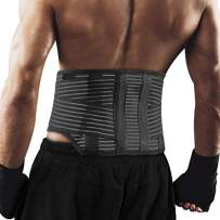 Back Brace for Instant Lower Back Pain Relief, Herniated Disc, Sciatica, Scoliosis and More! - Lower Back Support Belt for Women & Men, Breathable Lumbar Support Belt with Dual Adjustable Straps