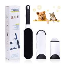 MyfatBOSS Pet Hair Remover Brush, Dog Cat Hair Remover with Self Cleaning Base, Efficient Double Sided Animal Fur Hair Removal Tool, Suit for Couch, Carpet, Bed, Car Seat, Clothing, Furniture