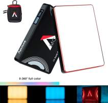 Aputure Amaran MC RGBWW Mini On Camera Video Light HSI/CCT/FX 3200K-6500K,CRI/TLCI 96+,Magnetic Function Support USB Type-C/Qi Wireless Charging APP Control