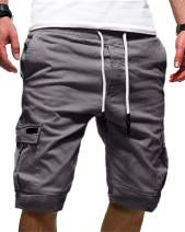 Mens Fashion Athletic Cargo Short - Big & Tall Classic Relaxed Sweatpants
