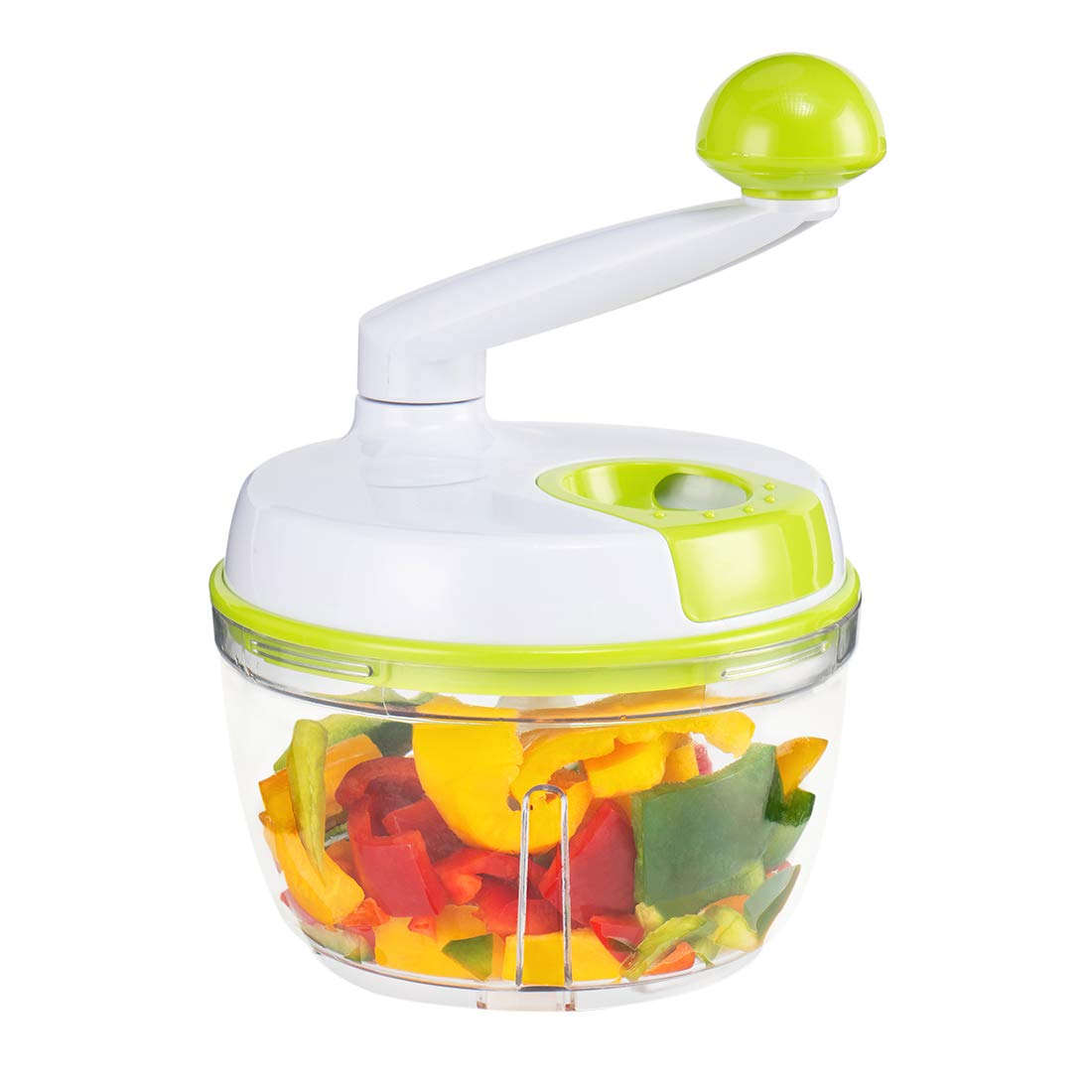 MIGECON Manual Food Processor, Vegetable Chopper with Built-In Egg White Separator, Meat Mincer for Fruits,Vegetables,Meats,Nuts and Salad