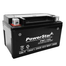 PowerStar YTX7A-BS High Performance Maintenance Free Sealed AGM Motorcycle Battery