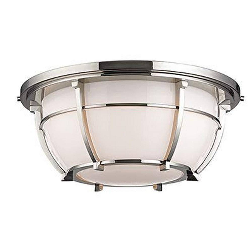 Hudson Valley Lighting 4115-PN Conrad - Three Light Flush Mount, Polished Nickel Finish with Opal/Glossy Glass