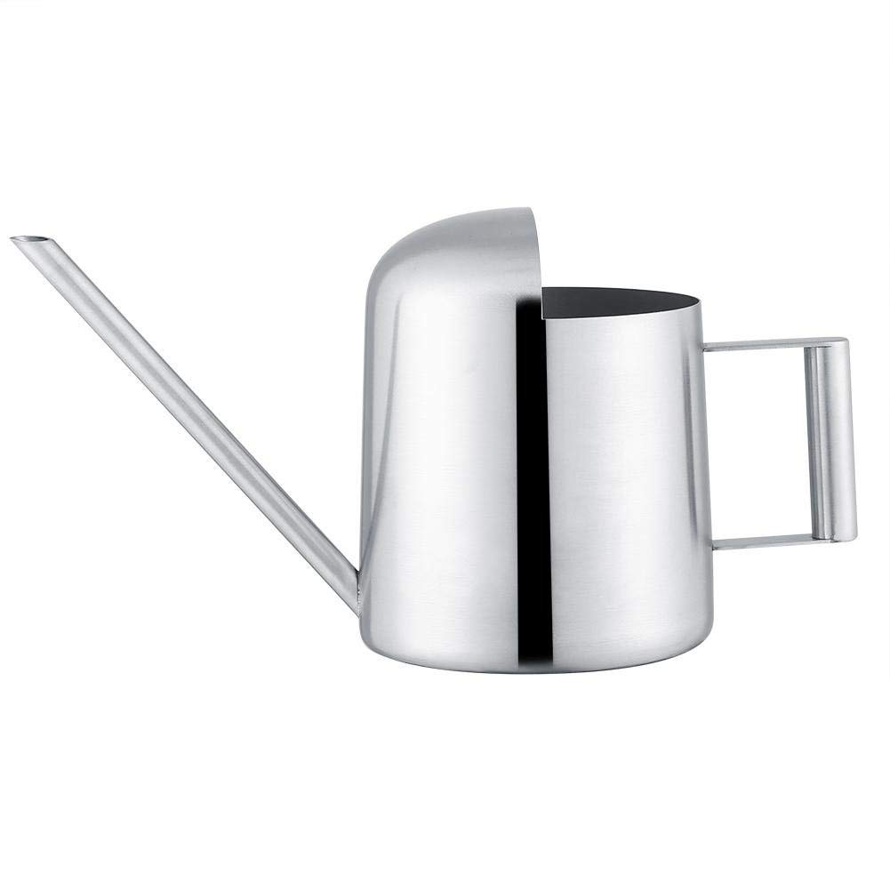 Fdit Watering Can Stainless Steel Watering Pot Long Mouth Design for Plants Houseplant Patio Plants Hanging Plants and Outdoor Gardens(500ML)