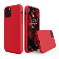 SURPHY Silicone Case Compatible with iPhone 11 Pro Max Case 6.5 inch, Liquid Silicone Full Body Thickening Design Phone Case (with Microfiber Lining) for iPhone 11 Pro Max 6.5 2019, Red
